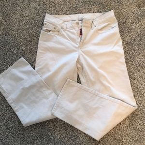 Cream colored Ralph Lauren denim jeans